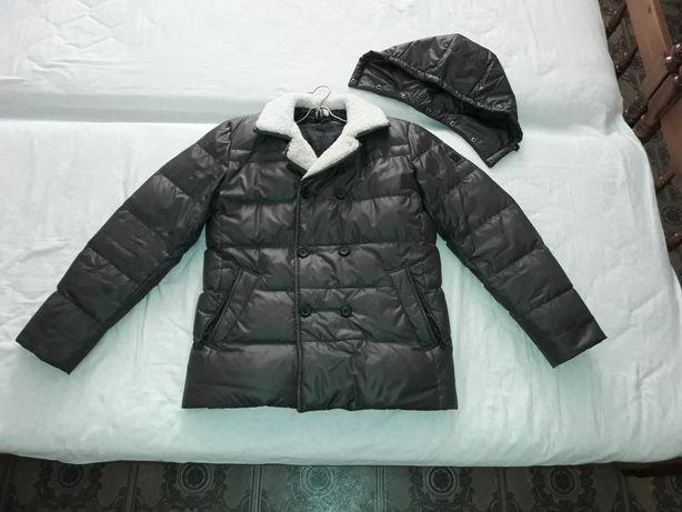 Пуховик -  куртка 48 размер Тёплая - цвет Хаки