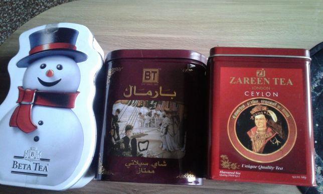 Металлические емкости для чая,кофе и др.