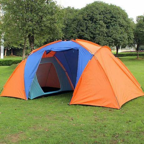Палатка двухкомнатная высокая с тамбуром и полом качественная Алматы