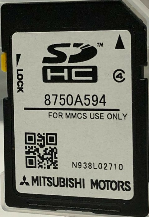 W15 W17 Mitsubishi 2019 MMCS 8750A594 Sd Card Map Europe Сд Карта Ориг