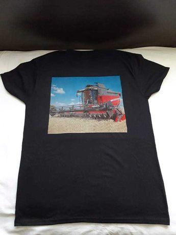 Тениска с ваша снимка черна