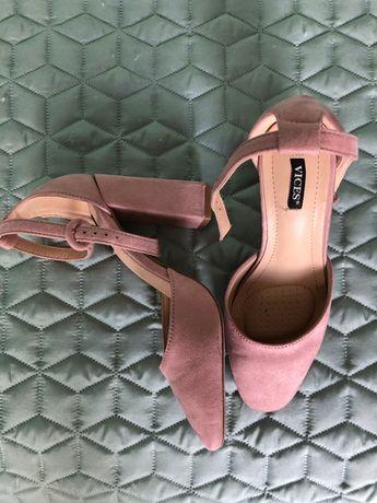 Кукленски Барби Розови дамски обувки на токче