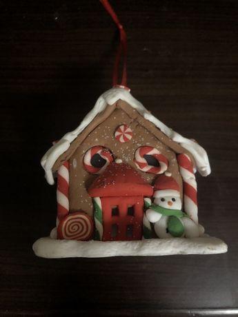 украшение пряничный домик на новый год