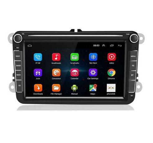 Navigatie Android 10 - 8 INCH - VW Seat Skoda - Bluetooth Wifi USB GPS