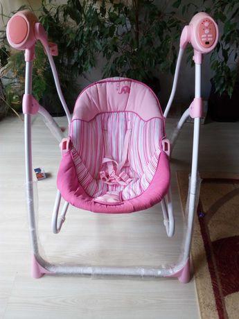 Cangaroo Електрическа люлка-шезлонг swing star розова