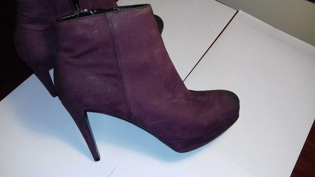 Pantofi piele dama, marimea 6, culoarea visiniu