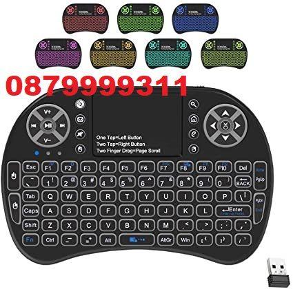 Безжична Клавиатура с мишка Тъч Пад MINI и подсветка- keyboard