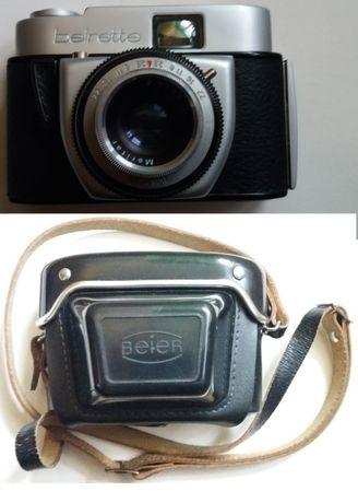 Фотоапарат Beirette с оригиналния кожен калъф