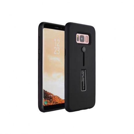 Husa Samsung S8+ plus,neagra, cu inel sustinere