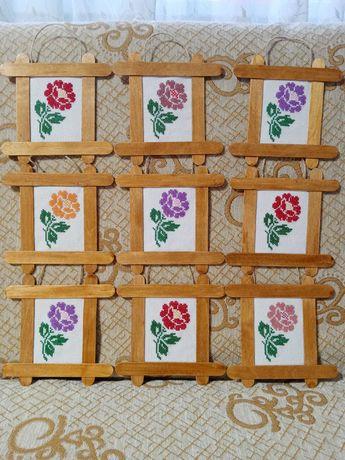 Пано с роза за цветница