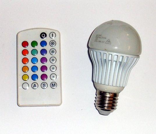 Vand bec cu LED, multicolor, cu telecomanda