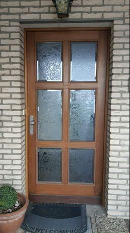 Usa casa firma vila lemn geam termopan vitraliu gravat H 220 x L 100