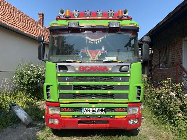 Ansamblu Scania L124 4X2 / semiremorca bena cereale