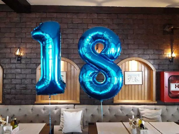 Baloane cifre aniversare cu heliu sau aer