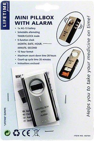 Lifetime Кутия за хапчета с вграден часовник и напомнящи аларми за при