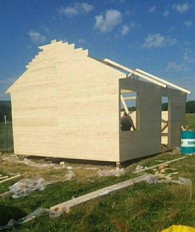Executam case pe structura de lemn sau metalica izolat foarte bine ter