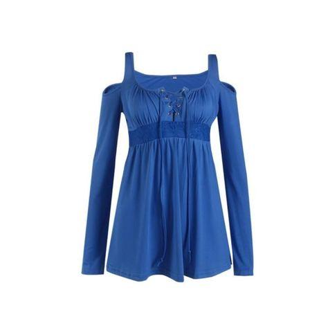 Нова дамска блуза с дълъг ръкав и презрамки