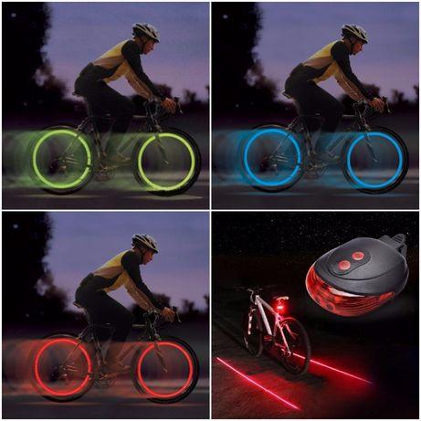 Set Lumini Bicicleta (Lumini Roti + Stop Led si Laser)