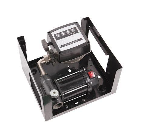 Pompa transfer motorina 12v 80l/min cu contor mecanic si filtru