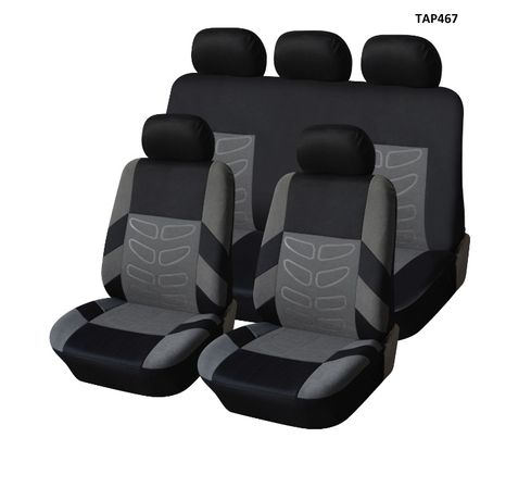 Универсална Авто тапицерия Kалъфи За Седалки Пълен Комплект 9 Части