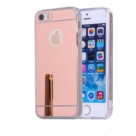 Husa Apple iPhone 5/5S/SE, MyStyle Elegance Luxury oglinda, Rose-Gold