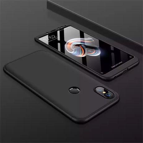 Кейс 360 градуса мат за Xiaomi Redmi Note 5 6 Pro 7 Redmi S2 Mi A2 A1