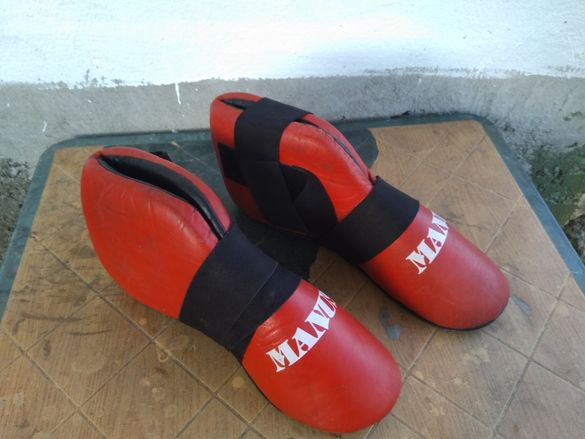 Протектори за стъпало и подбедрица при бойни спортове