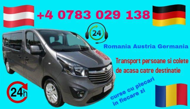 Transport Persoane Colete Germania Austria Romania zilnic de la adresa