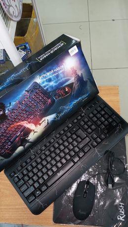 Игровой набор для компьютера световая клавиатура
