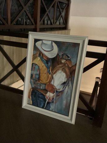 Купить картину, живопись, техас,  лошадь,  холст, масло!