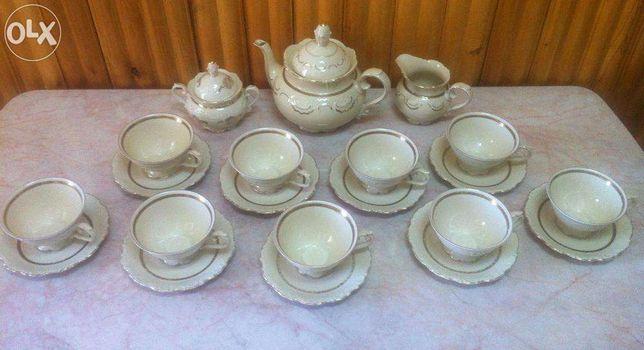 Set unic de ceai foarte vechi Bavaria Schumann-23 piese