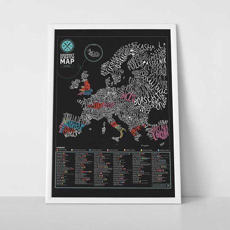 Harta razuibila de perete 59.4cm x 82.5cm Luckies of London - Gourmet