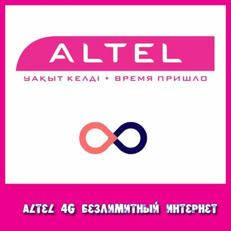 Номер Алтел с тарифом Премиум 25. Безлимитный интернет