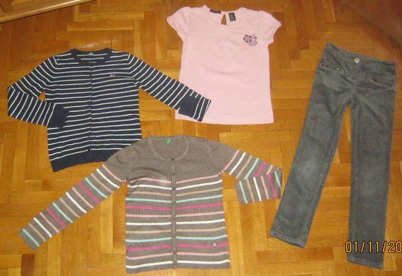 Сет момиче - 2 жилетки benetton, джинси Next, тениска Calvin Klein