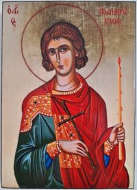 Икона на Свети Фанурий ikona sveti fanurii