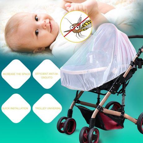 Комарник за количка мрежа против комари за бебешка количка