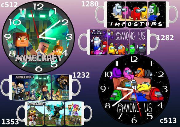 Детски стенен часовник;възможност за комплект с чаша-с или без снимка