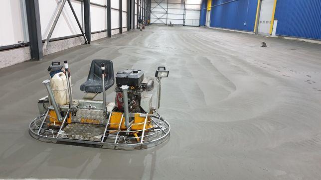 Turnare beton finisat cu elicopter și cuart, slefuit, sclivisit,