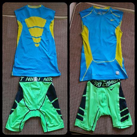Компресионная форма Nike, майка, футболка, шорты, спортивка.