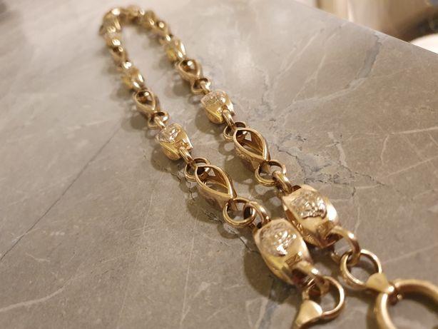 Lant & brățară aur 14k Versace
