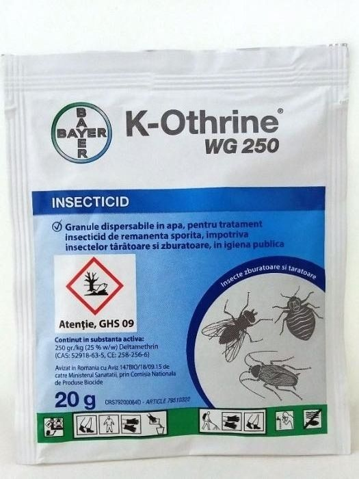 Insecticid K-Othrine wg250 Bayer ( insecte zburatoare si taratoare )
