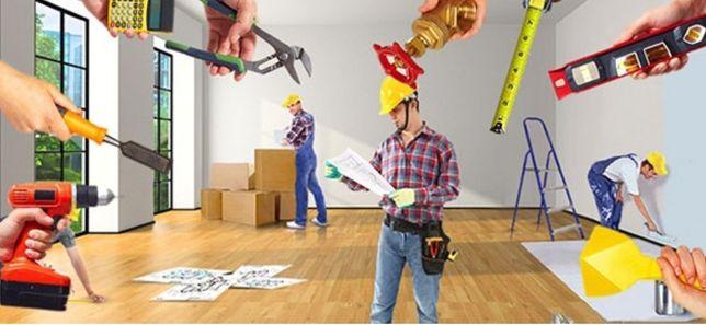 Ремонт квартир, Мелко срочный ремонт, Строительные работы