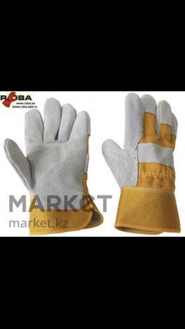 Спилковые рабочие перчатки