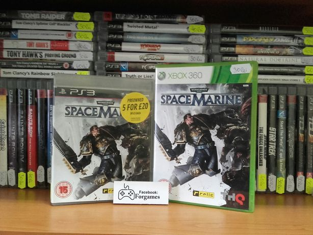 Vindem jocuri PS3 si xbox 360 warhammer Space Marine