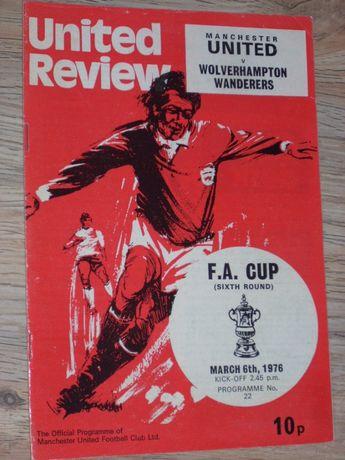 Манчестър Юнайтед оригинални английски футболни програми 1975/76-1980