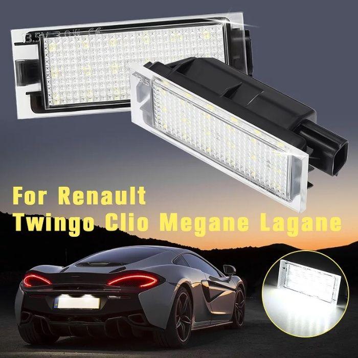 Set 2 lampi 18 led numar, canbus, alb pur 6000k pentru Renault