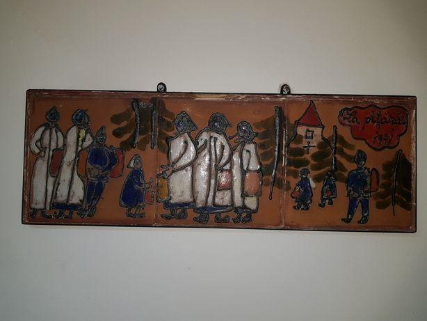 Opt piese cu pictura pe ceramica-semnate LR
