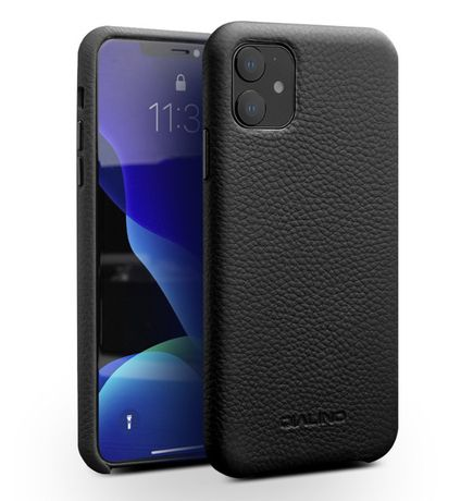 Husa iPHONE 11, slim piele naturala moale, back cover, Qialino