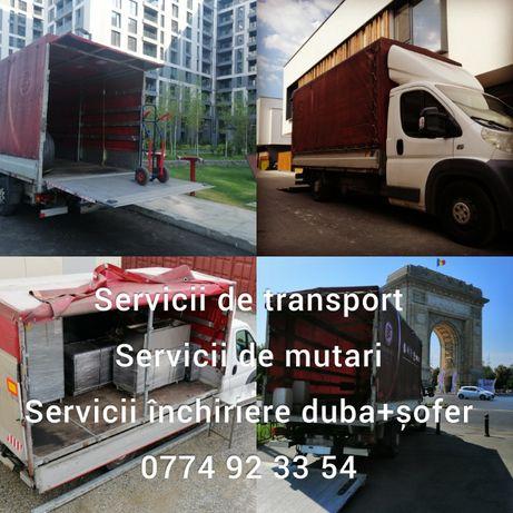 Man with van! Inchiriere duba și sofer 100-200 lei, transport, mutari