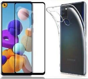 Pachet husa silicon+folie sticla full Samsung A21s, A12, A32, A52